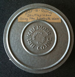 photo of film can from the EMF collection with Shicklegruber on the label