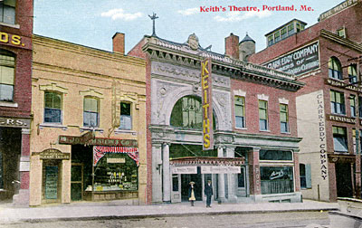 Keith's Theatre, Portland, Maine, Q. David Bowers CollectionThe movie ...