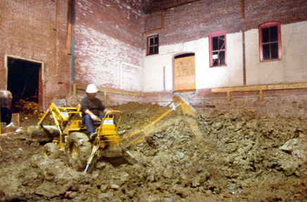 phil yates excavating the basement of the alamo theatre
